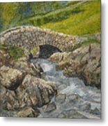 Above Ashness Bridge Metal Print