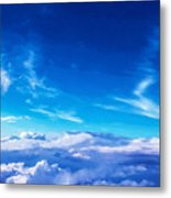 Above The Clouds Sky Is Always Blue Metal Print