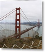 Above The Golden Gate Metal Print