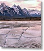 Abraham Lake Ice Sheets Metal Print