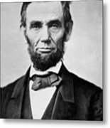 Abraham Lincoln -  Portrait Metal Print