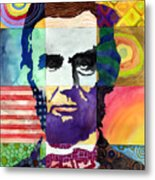 Abraham Lincoln Portrait Study Metal Print