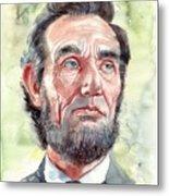 Abraham Lincoln portrait Metal Print