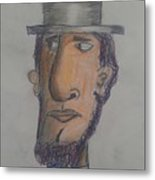 Abraham Lincoln Metal Print by Sonya Wilson