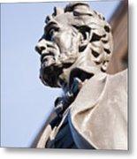 Abraham Lincoln Statue Profile Metal Print