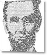 Abraham Lincoln Typography Metal Print