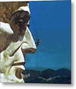 Abraham Lincoln's Nose On The Mount Rushmore National Memorial  Metal Print