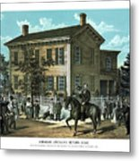 Abraham Lincoln's Return Home Metal Print