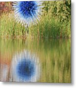 Abstact Sphere Over Water Metal Print
