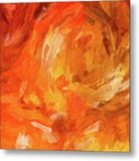 Abstract 106 Digital Oil Painting On Canvas Full Of Texture And Brig Metal Print