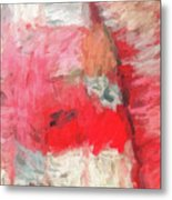 Abstract 107 Digital Oil Painting On Canvas Full Of Texture And Brig Metal Print