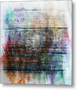 2e Abstract Expressionism Digital Painting Metal Print