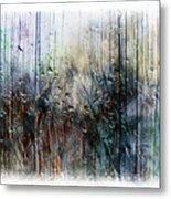 2f Abstract Expressionism Digital Painting Metal Print