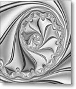 Abstract 534 Bw Metal Print