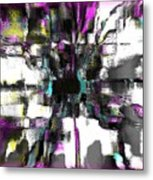 Abstract A Flower  Metal Print