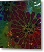 Abstract Acrylic Painting Colorful Spring I Metal Print