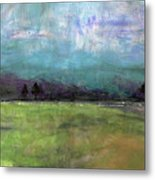 Abstract Aqua Sky Landscape Metal Print