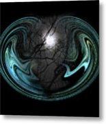 Abstract Art - Full Moon Metal Print