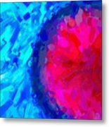 Abstract Art Combination - The Pink Martian Crater, Ca 2017, Byy Adam Asar Metal Print