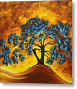 Abstract Art Original Landscape Painting Dreaming In Color By Madartmadart Metal Print by Megan Duncanson