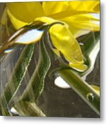 Abstract Artwork Daffodils Flowers 1 Natural Abstract Art Prints Glass Vase Water Art Light Air Metal Print