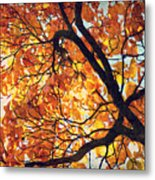 Abstract Autumn Impression Metal Print