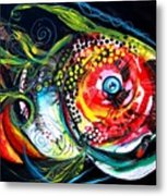 Abstract Baboon Fish Metal Print