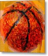 Abstract Basketball Metal Print by David G Paul
