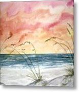 Abstract Beach Painting Metal Print