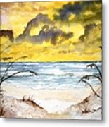Abstract Beach Sand Dunes Metal Print