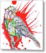 Abstract Bird 002 Metal Print