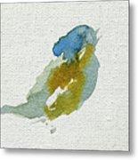 Abstract Bird Singing Metal Print
