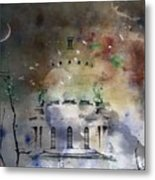 Abstract Birds In A Swirl Of Sky Colors Metal Print