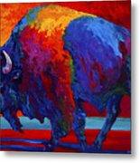 Abstract Bison Metal Print
