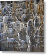 Abstract Bleeding Concrete Metal Print
