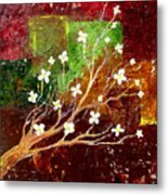 Abstract Blossom Metal Print