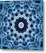 Abstract Blue 16 Metal Print