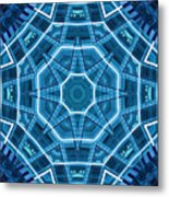 Abstract Blue 18 Metal Print