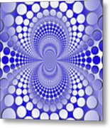 Abstract Blue And White Pattern Metal Print