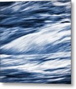 Abstract Blue Background Wild River Metal Print