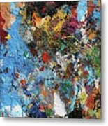 Abstract Blue Blast Metal Print