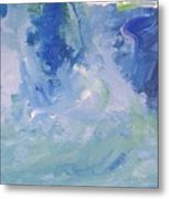 Abstract Blue Reflection Metal Print