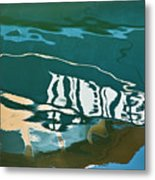 Abstract Boat Reflection Metal Print by Dave Gordon