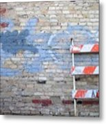 Abstract Brick 2 Metal Print
