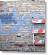Abstract Brick 2 Metal Print