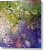 Abstract Bubbles And Rivers Metal Print