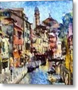 Abstract Canal Scene In Venice L B Metal Print