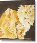 Abstract Cat Metal Print by Joseph Palotas
