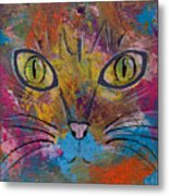 Abstract Cat Meow Metal Print