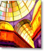 Abstract Cathedral Color Wheel Metal Print